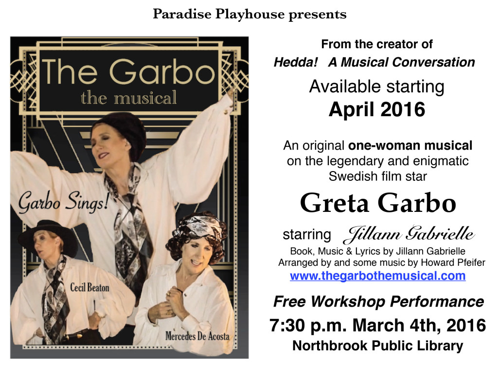 new home page for The Garbo the Musical